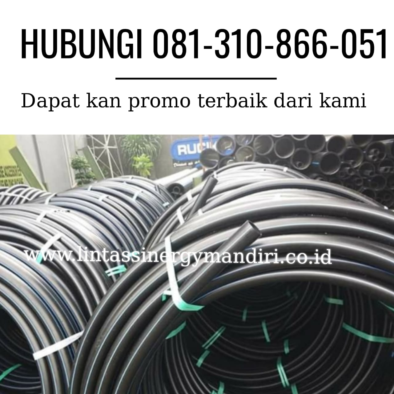 Distributor Pipa HDPE SNI Rucika Semarang | WA 0813 1086 6051
